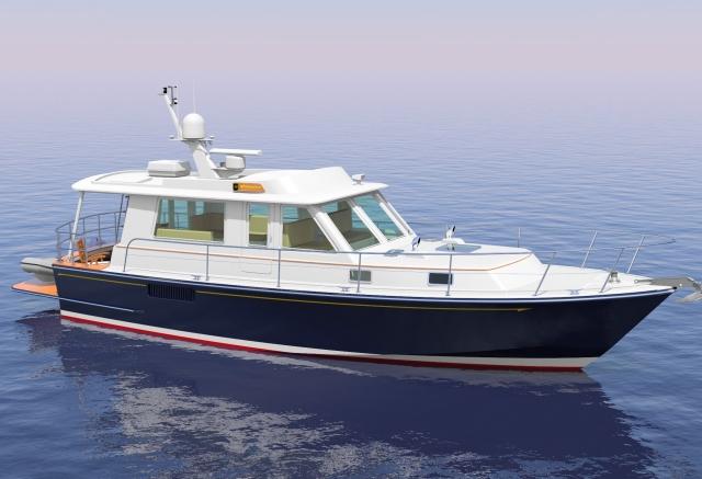 Monhegan 42 Extended Cruiser, by Lyman-Morse