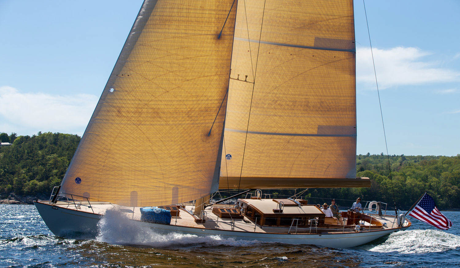 Anna, a new 65' wood composite yacht by Lyman-Morse
