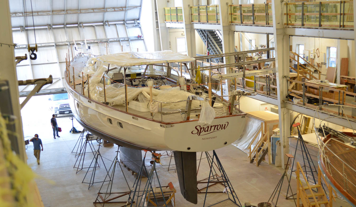 Refits are a specialty at Lyman-Morse Boatbuilding