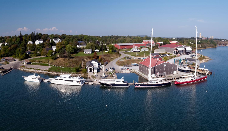 Lyman-Morse Boatbuilding in Thomaston, Maine