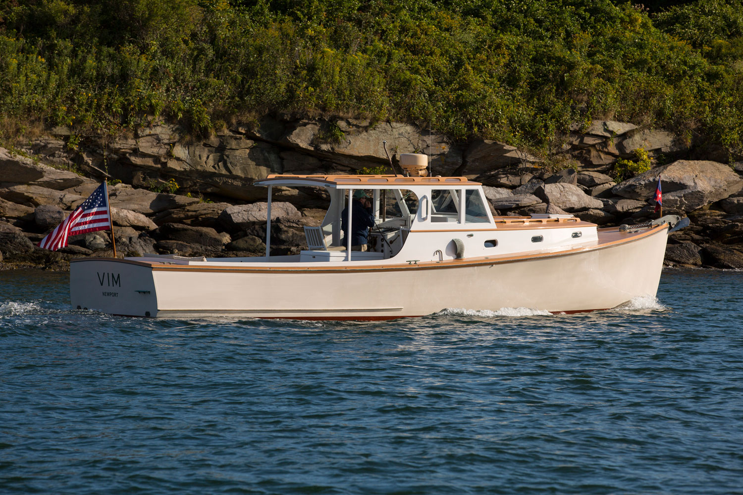 Classic yacht Vim, offered by Lyman-Morse Brokerage