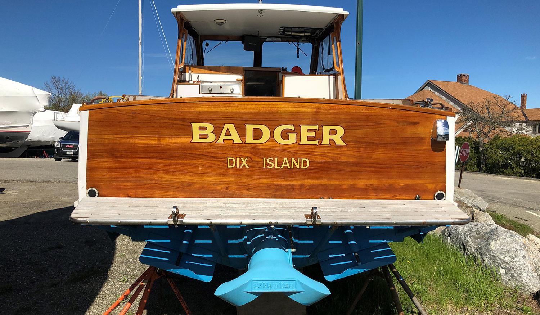 Monhegan 25 Badger transom