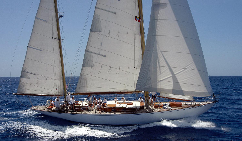 Lone Fox under sail