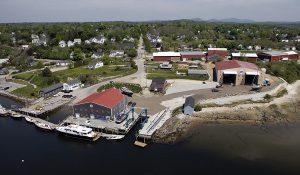 Lyman-Morse's boat building campus in Thomaston, Maine