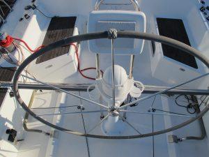 Beneteau America 36.7 helm detail