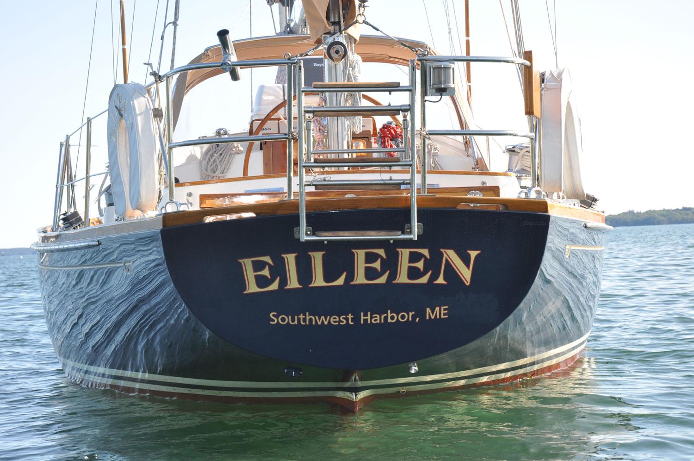 Hinckley SW 42 Eileen transom