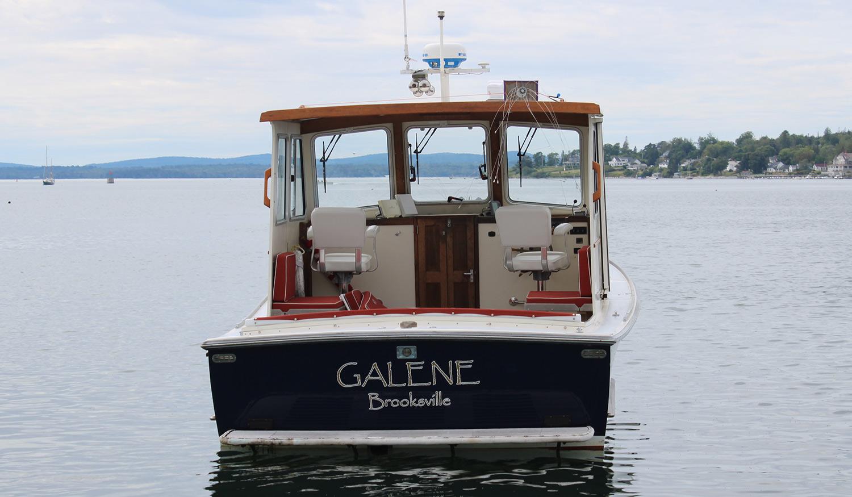 Webbers Cove Galene transom