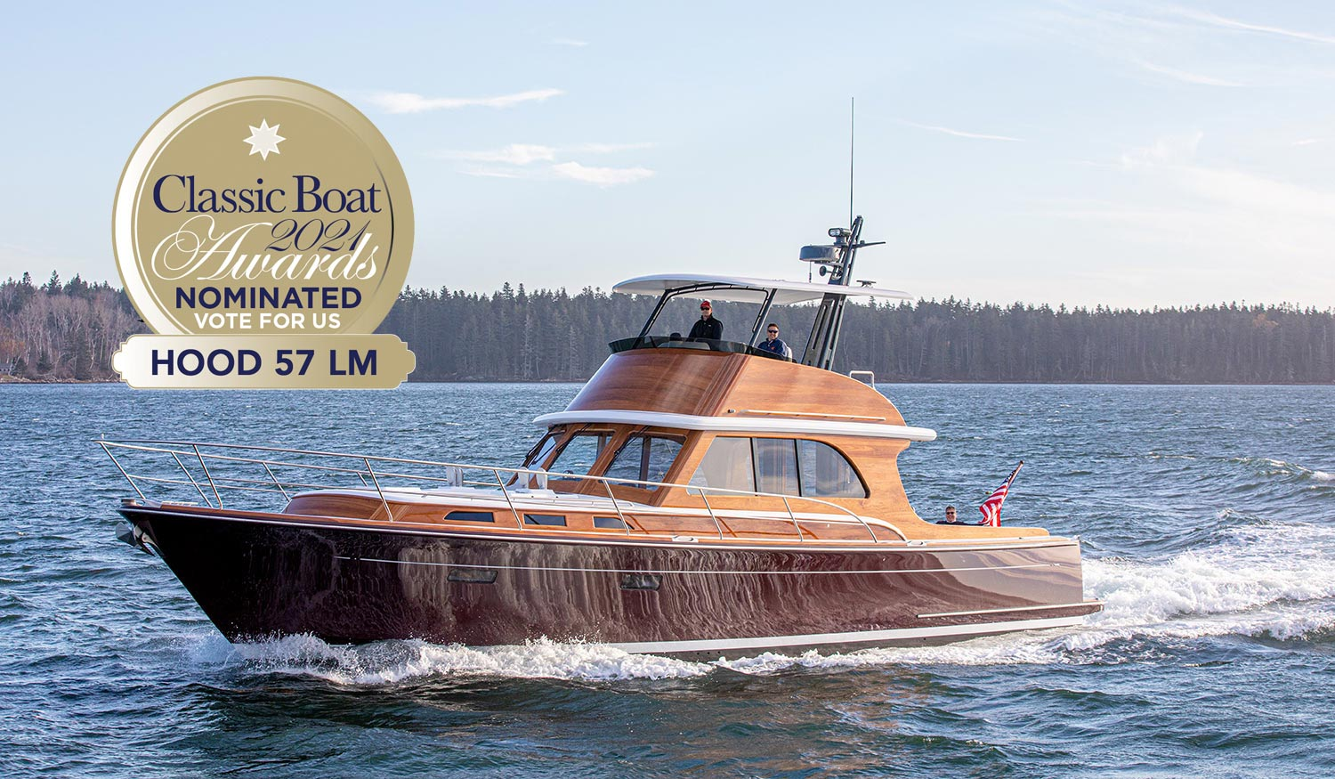 Hood 57 LM, nominated by Classic Boat as best new powered vessel