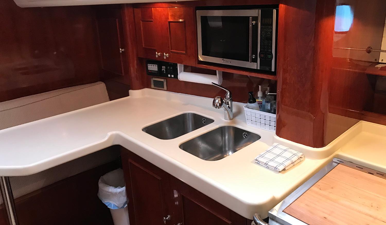 Sensation 73 yacht Valor galley