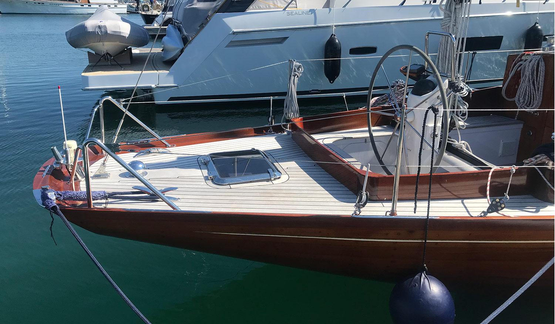 McGruer 41 international 8 metre aft deck