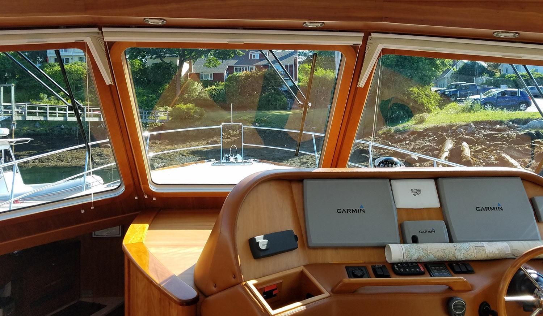 2012 Sabre 48 Salon Express Savory forward view
