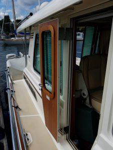 2012 Sabre 48 Salon Express Savory helm side deck and door