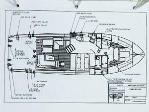 2012 Sabre 48 Salon Express Savory thru-hull diagram