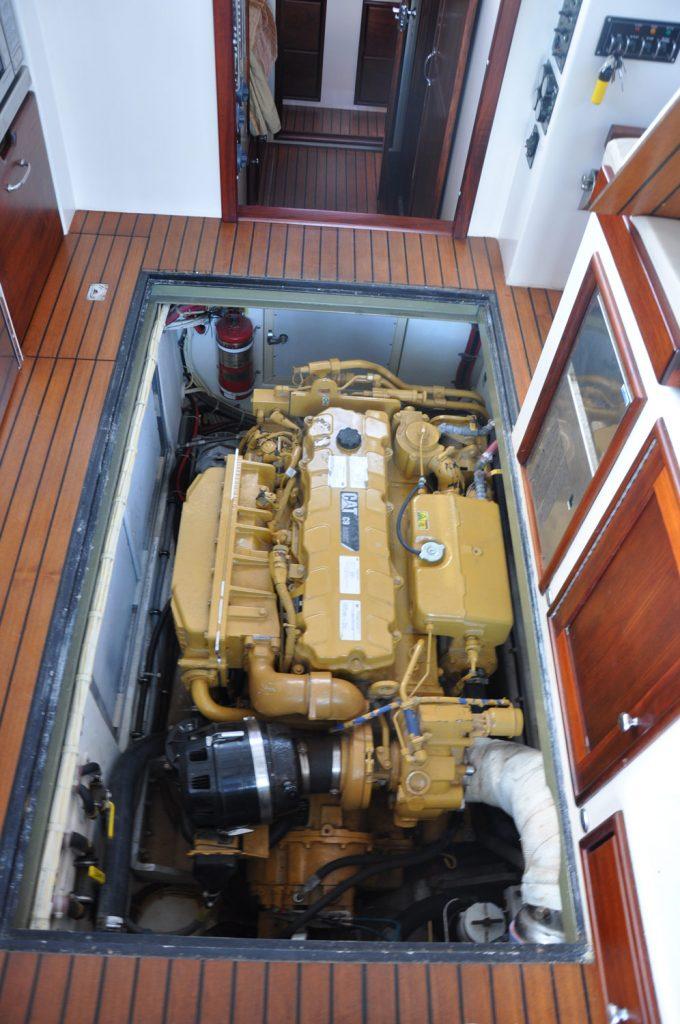38' Northern Bay Downeast Hard Times engine