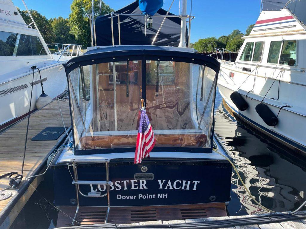 "Ellis 28 ""Lobster Yacht"" transom"